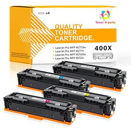 Tóner H-Party 4 Pack Compatible para HP 201X CF400X CF401X CF402X ...