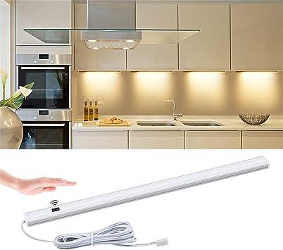 Hand Motion Sensor LED Bar Light Under Cabinet Cupboard Wardrobe Kitchen Closet