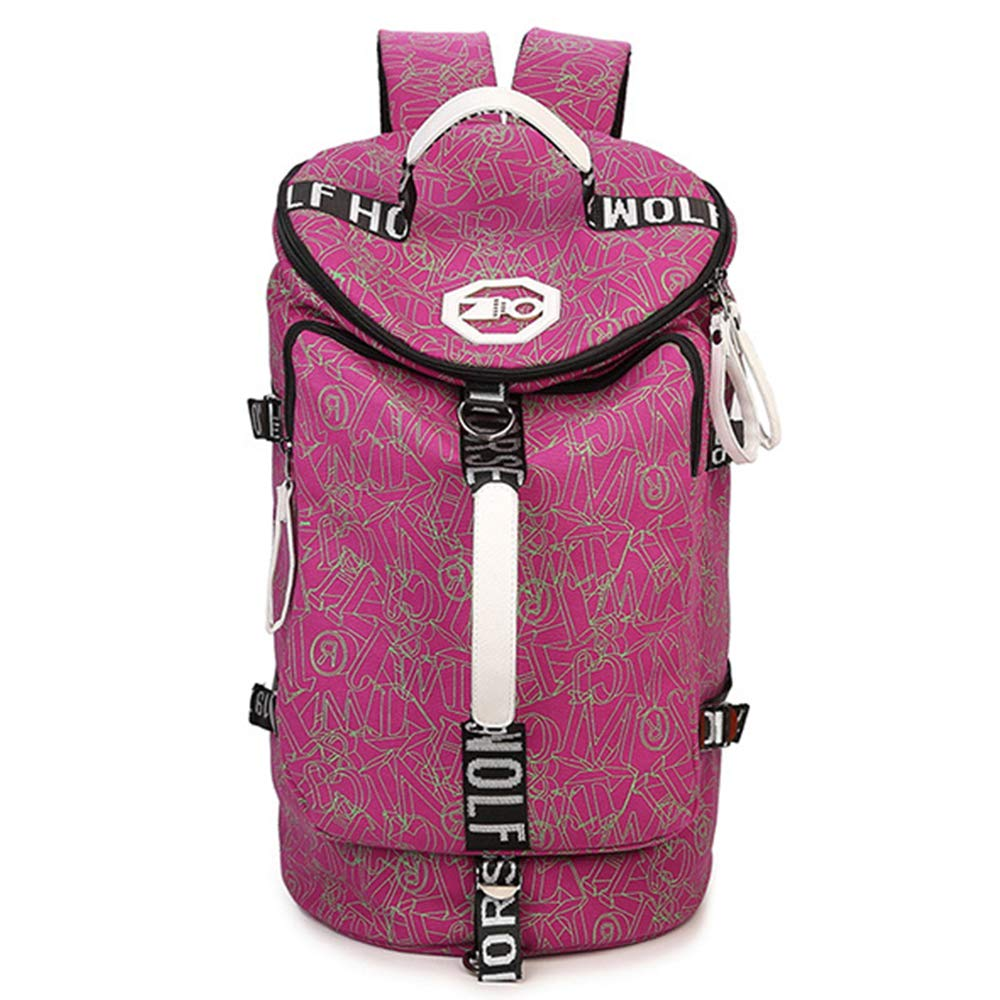 pink_pattern Largecapacity Printed Backpack Leisure Travel Multifunction Backpack Men And Women Mountaineering Bag
