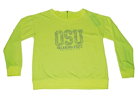 bbb1c268f Image Unavailable. Image not available for. Color  Gear for Sports Oklahoma  State Cowboys Women Neon Yellow Zip Back Sweatshirt ...
