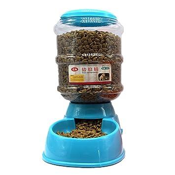 Garyesh 3.5L Alimentador Automático de Dispensador de Alimentos para Mascotas (Azul): Amazon.es: Hogar