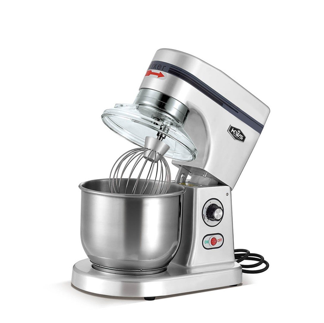 KWS M-B5 Commercial 575W Stand Mixer, 5 Quarts Silver Heavy-Duty for Restaurant/Bakery /Tea Shop/Coffee Shop