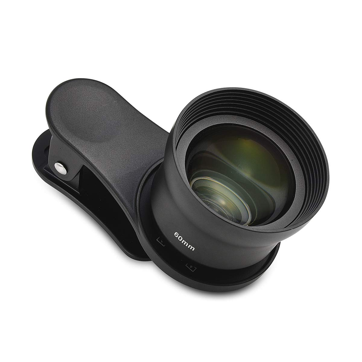 SIRUI Black 60mm Portrait Phone Lens with Multi-Purpose Clip, Constructed with German Schott Glass and Aluminum Housing, for iPhone, Pixel, Samsung Galaxy and Most Other Camera Phones
