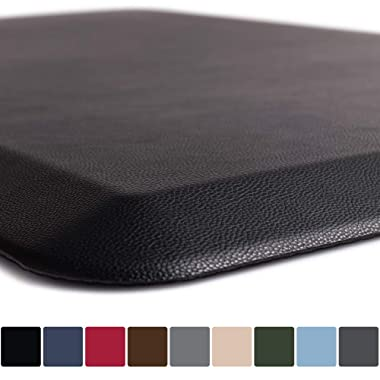 GORILLA GRIP Original 3/4  Premium Anti Fatigue Comfort Mat, Phthalate Free, Ergonomically Engineered, Extra Support and Thick, Home Kitchen & Office Standing Desk Mats (24x17: Black)