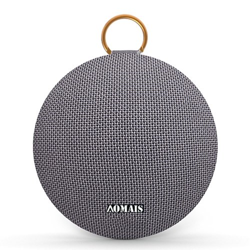 AOMAIS Ball Bluetooth Speakers,Wireless Portable Bluetooth 4.2,15W Superior Sound with DSP,Stereo Pairing for Surround Sound,Waterproof Rating IPX7,For Sports,Travel,Shower,Beach,Party (grey)