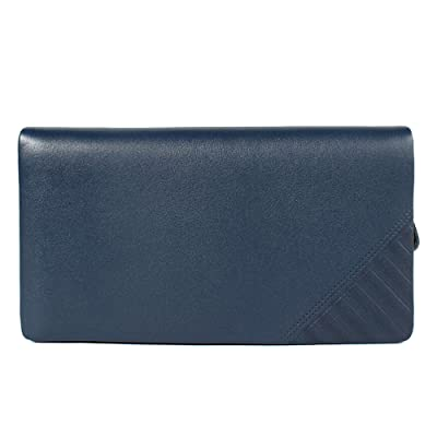 JUNBOSI Sac à main pour homme - Pochette en cuir de grande capacité - Portefeuille pour homme en cuir souple de première qualité