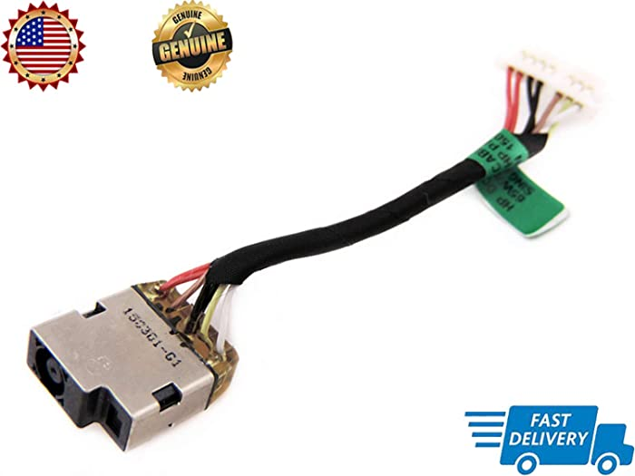 Genuine New DC in Power Jack Cable Harness Socket for HP Touchsmart Envy x360 15-u050ca 15-u170ca 15-u110dx 15-u111dx 15t-u000 15t-u100 15-u010dx 15-u011dx 762825-SD1 762825-FD1 762825-YD1