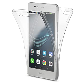 NALIA Funda Carcasa Compatible con Huawei P9 Lite, Protectora 360 Grados, Movil TPU Silicona Ultra-Fina Gel Transparente, Doble Delantera Protección ...