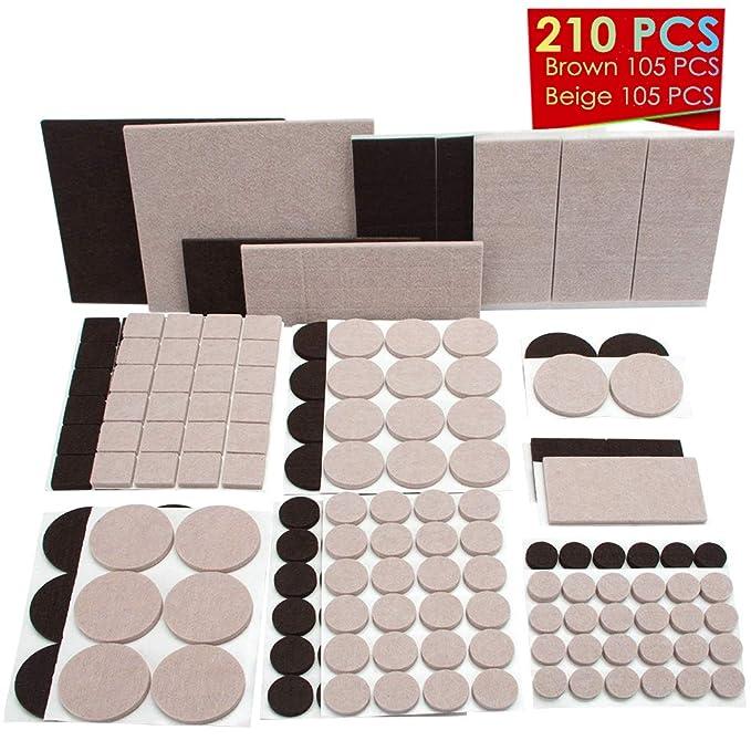 Almohadillas de fieltro para muebles, 210 unidades ...