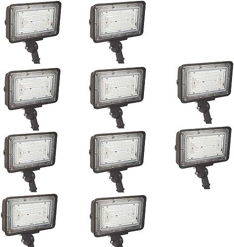 1000LED LED Flood Light 30W 10 Pack, IP65 Outdoor Waterproof Super Bright 3600lm Daylight 5000K, AC100-277V Input