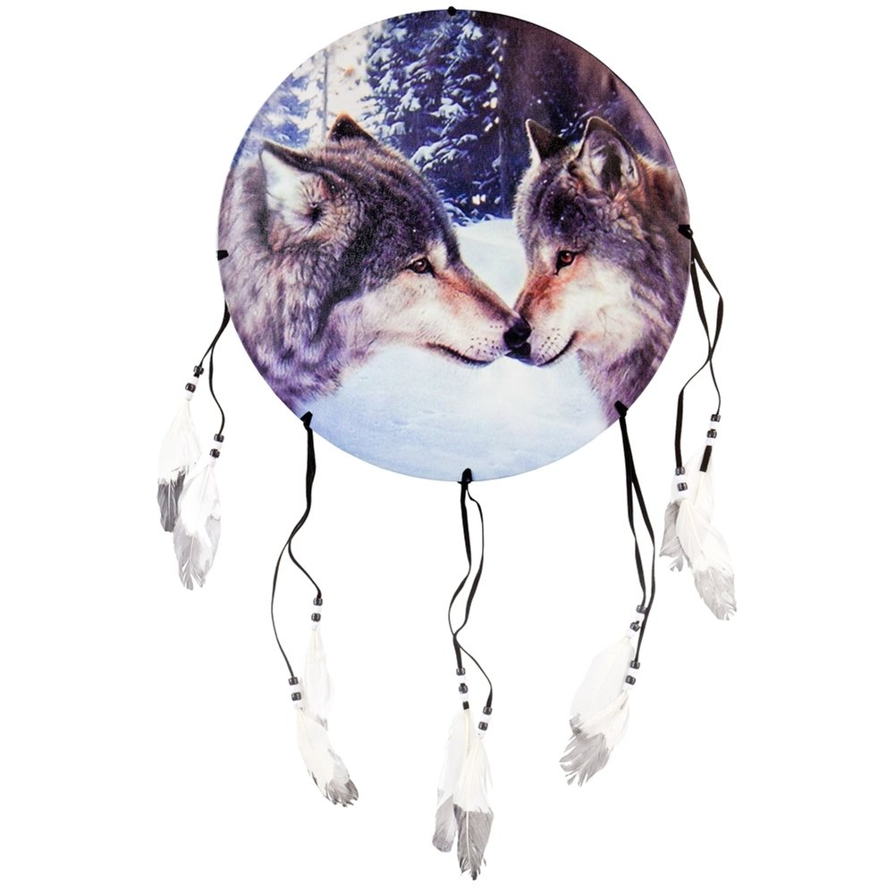 Animal World - Wolves Touching Noses Dream Catcher