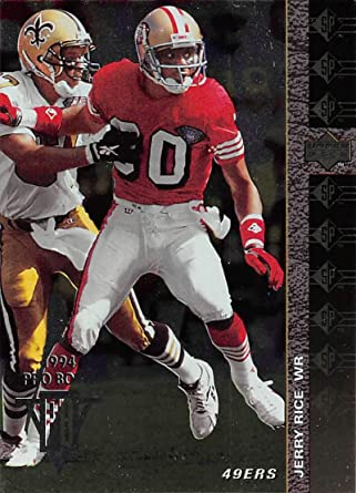 Amazon Com 1994 Sp Football 194 Jerry Rice San Francisco 49ers Official Nfl Trading Card From Upper Deck Collectibles Fine Art