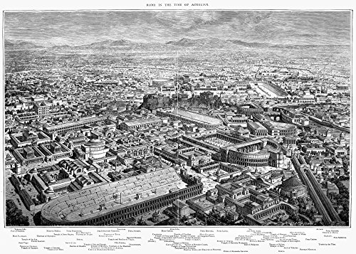 Ancient Rome C170 AD Nrestoration Of The City Of Rome At The Time Of The Reign Of Emperor Marcus Aurelius (161-180) Line Engraving 1879 Poster Print by (18 x 24)