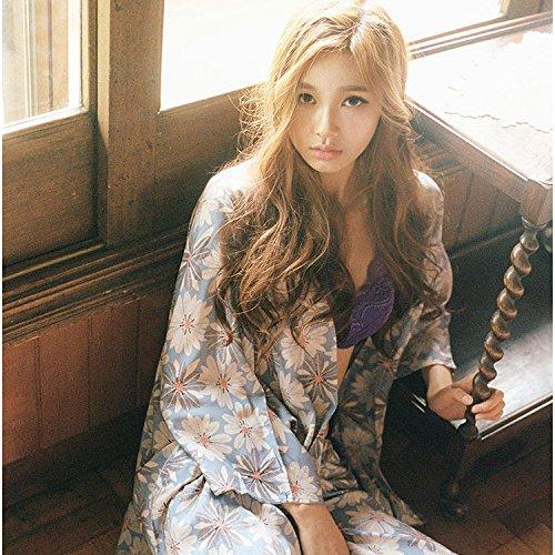 PLLP el Nuevo Otoño Japonés de Corea del Sur Arnés de Margaritas Frescas Tres Conjuntos de Pijamas Sueltos Pantalones de...