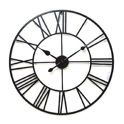 LX-wall clock Relojes Decorativos Romanos de Estilo Europeo Grandes y silenciosos Relojes de Pared