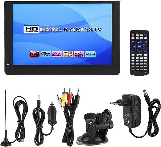 Annadue Reproductor de TV DVB-T / T2, TV Digital portátil HD de 12 Pulgadas, Auto para Autocaravana para Auto: Amazon.es: Hogar