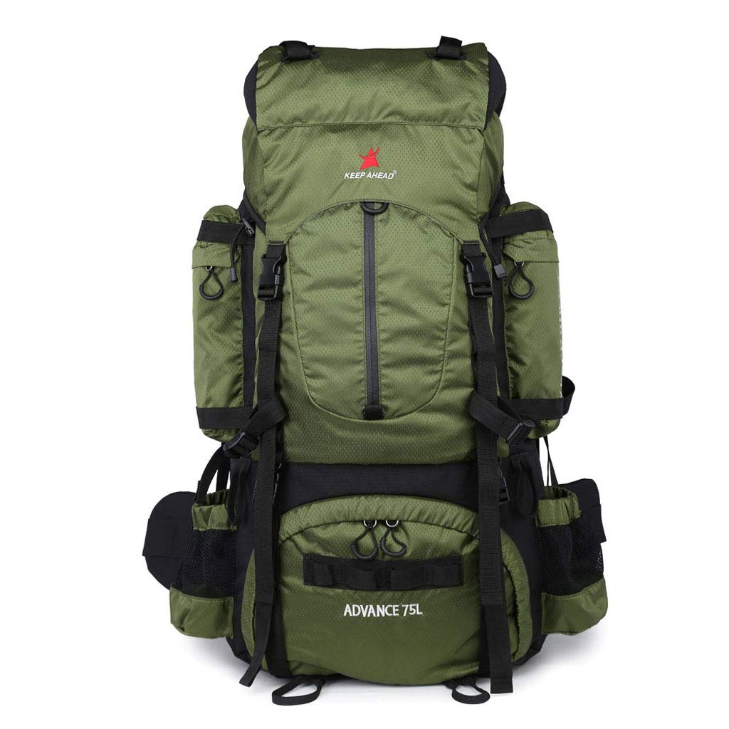 80l防水超軽量ハイキングバックパック付きレインカバー、アウトドアスポーツデイパックトラベルバッグ登山キャンプツーリング登山釣り B07K34S5QK ブルー