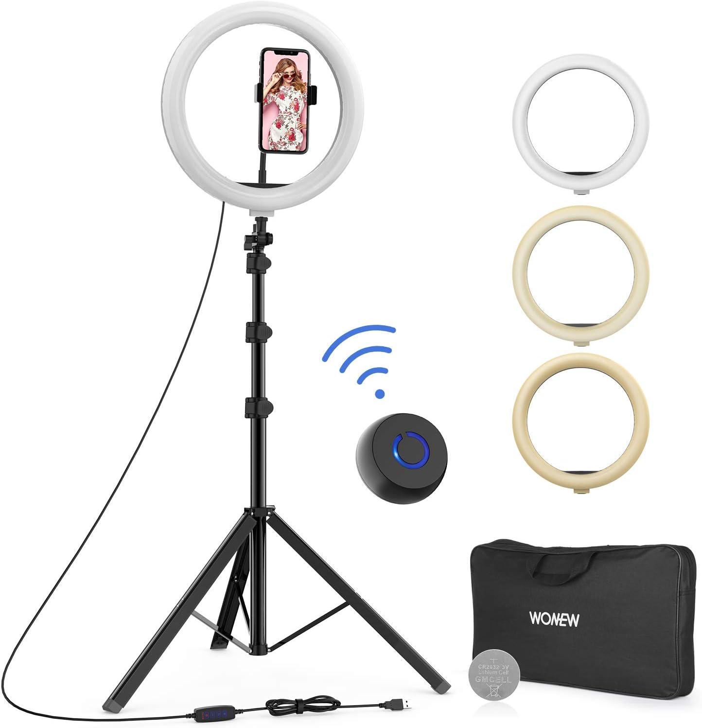 Soporte para trípode WONEW 12 Selfie Ring Light (DQNY)