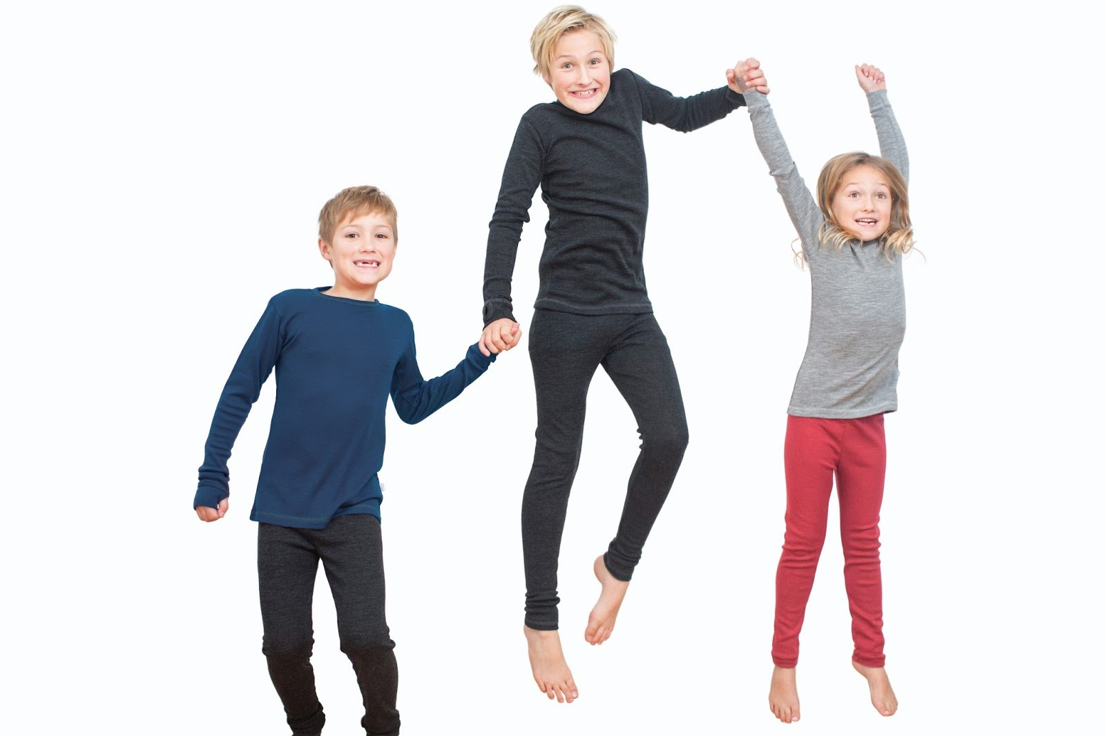 Pure Merino Wool Kids Thermal Top. Base layer Underwear Pajamas. BLUE 9-10 Yrs by Simply Merino (Image #3)