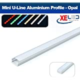 XE LED Solutions Profilé aluminium pour ruban LED avec diffuseur opaque 2m
