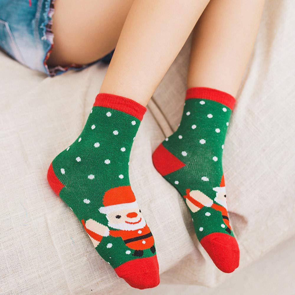 Romance8 5 Pairs of Christmas Childrens Sock Baby Stockings Socks Warm Toddler