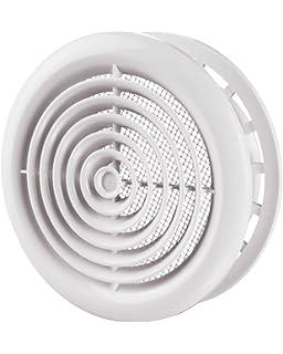 GASMOBE Difusor circular con puente regulaci/ón de caudal con aros de aluminio extruido conos fijos para instalar en el techo 6-150mm, Anonizado