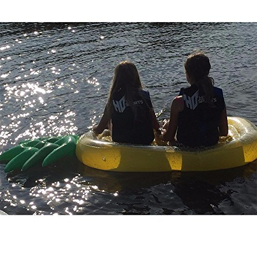 Fly Water Inflatable Pineapple Floating Row Bed Unicorn Cloud Swimming Ring Hammock Sofa Recliner Floating Bed Inflatable Floating Row by Fly (Image #6)