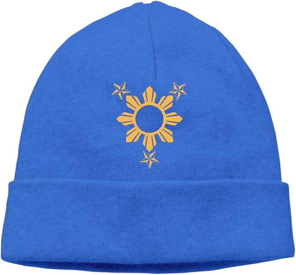 3 Stars and Sun Filipino Philippines Flag Men /& Women Thick Cycling Beanie Hats