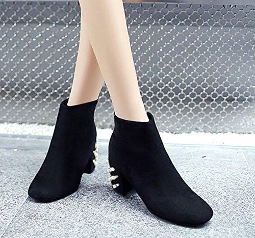 Bottines Chaud Low Mode Aisun Bijoux Boots Femme Noir nmON0wPyv8