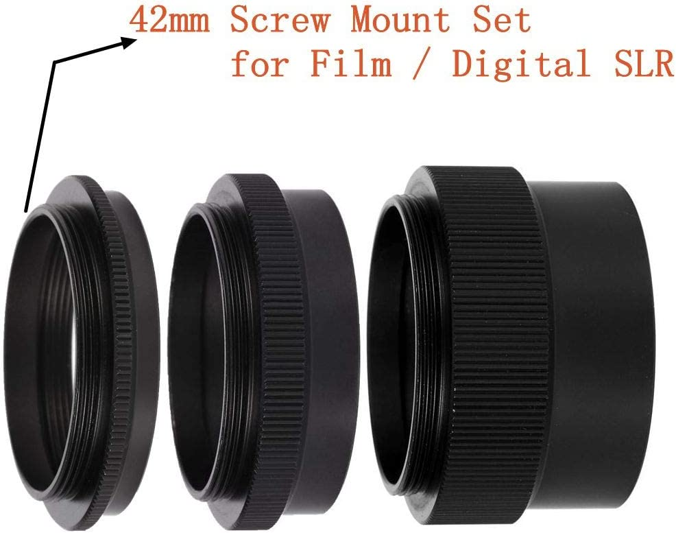 Oumij Macro Extension Tube Ring for M42 42mm Screw Mount Set for Film//Digital SLR.