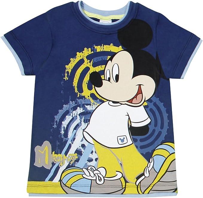 Disney - Camiseta Cuello Redondo de Manga Corta para niño, Talla 8 años (128 cm), Color Azul 3993: Amazon.es: Ropa y accesorios