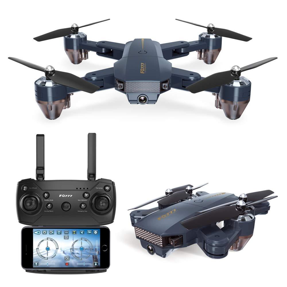 Goolsky FQ35 RC Training Quadrocopter Drohne mit 480P Kamera Unterstützung Wifi FPV/Höhe Halten/One Key Return/3D Flip/Headless Modus/Pfad Fly für Anfänger