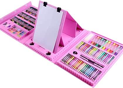 HUATAN Estuche Pinturas para niños maletin Pinturas para niños, lapices Dibujo Material de Dibujo Estuches para Colorear: Amazon.es: Hogar