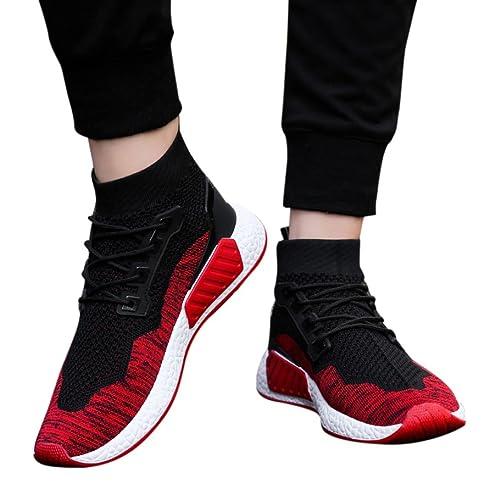 Logobeing Zapatillas para Correr Zapatillas para Gimnasio Calcetines Zapatos Ayuda Alta Suela Blanda Deportivas Zapatillas de Running: Amazon.es: Zapatos y ...