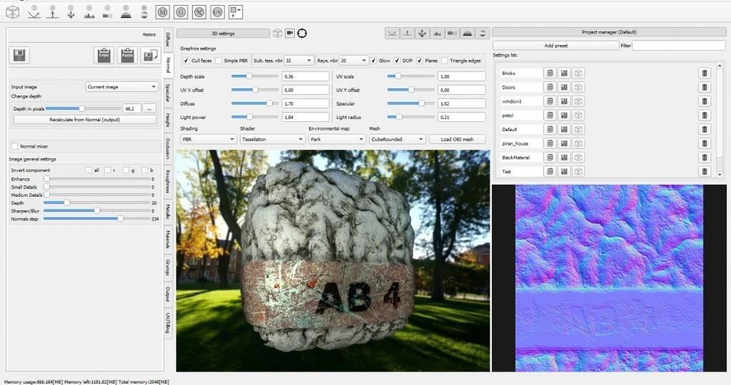 3D Graphics Bump Texture Map PC Computer Program Software