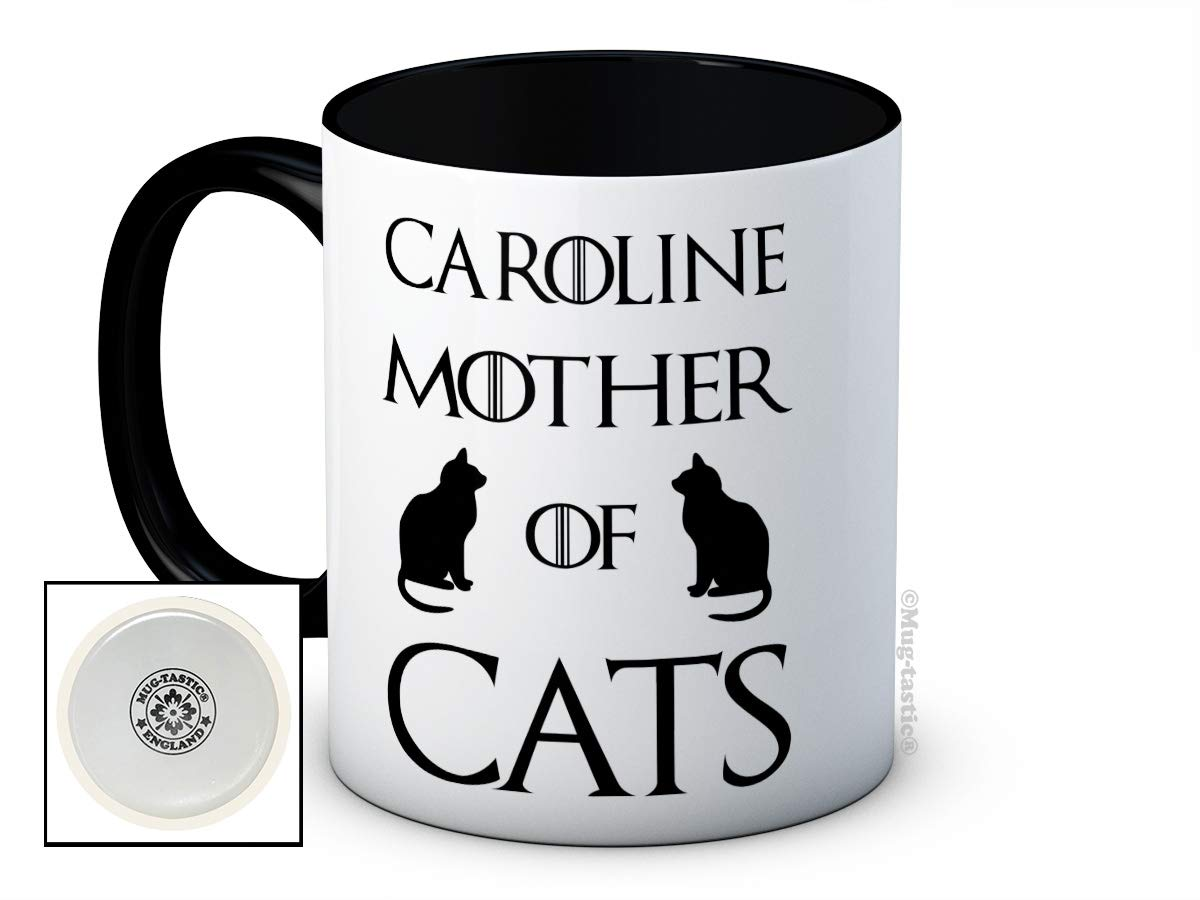 Your Name Mother of Cats Custom Personalised Any Name Cat Lovers High Quality Ceramic Coffee Mug