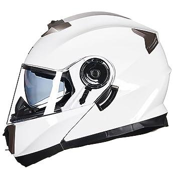 ZCRFY Cascos Modulares Moto Casco Jet Choque Motocicleta Motocross Doble Sol Visera Flip Up Frente De