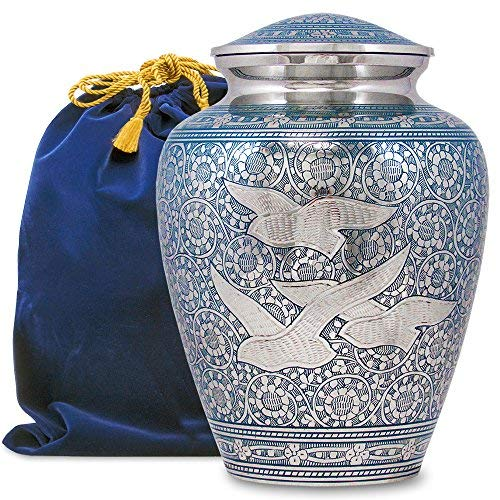 - Wings of Love Elegant Adult Cremation Urn for Human Ashes - A Beautiful and Timeless Urn to Honor The One Your Love - Find Comfort Everytime You Look at This High Quality Urn - with Velvet Bag