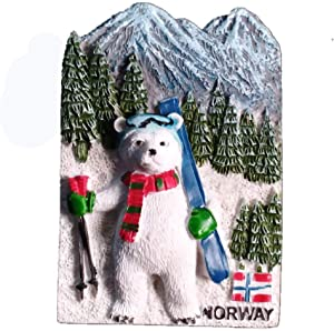 3D Norway Fridge Magnet Travel Souvenir Gift Home Kitchen Decoration Magnetic Sticker Norway Refrigerator Magnet Collection