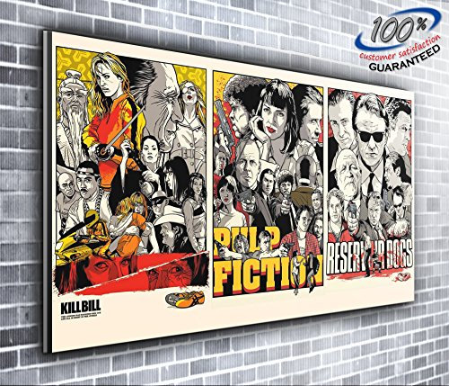 (Kill Bill Pulp Fiction Reservoir Dogs Quentin Tarantino Panoramic Canvas Print XXL Picture 50 inch x 20 inch Over 4 foot wide x 1.5 foot high Ready to Hang Stunning)