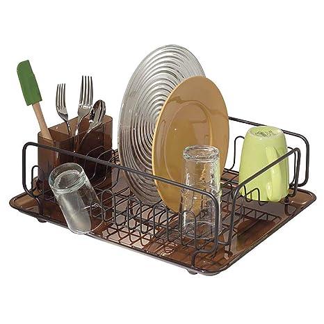 Amazon.com: mDesign - Escurreplatos de cocina con alambre de ...