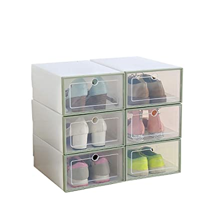 Etonnant Shoes Organizer Shoe Box Storage Containers Foldable Clear Female Dust Free Shoe  Storage Box 1