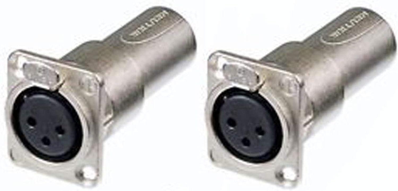 Male Feed//Pass Thru Converter 2 Neutrik NA3FDM Adapter 3 Pin Mic XLR Female