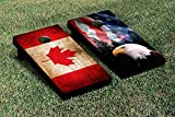 SPLIT AMERICAN EAGLE USA MOUNTAIN Version CANADA VINTAGE FLAG CORNHOLE SET