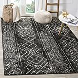 Cheap Safavieh Adirondack Collection ADR111C Black and Silver Contemporary Bohemian Distressed Area Rug (6′ x 9′)