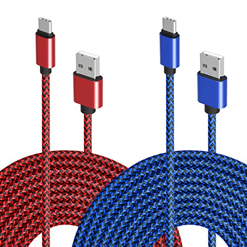 Type C USB Charger Cable, VICOX 2Pack 10Ft Sturdy Braided USB C to USB Fast Charging Data Cable for Galaxy Note 8 S9 S9+ S8 Plus, LG G7 G5 G6 V20, Pixel XL, Oneplus 3T 5 6, VIVO NEX