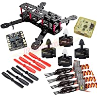 Hobbypower Carbon 250mm Quadcopter With MT2204 2300KV Motor + BLHeli 12A ESC + CC3D Flight Control Board + 5045 Props for QAV250 Mini FPV Drone
