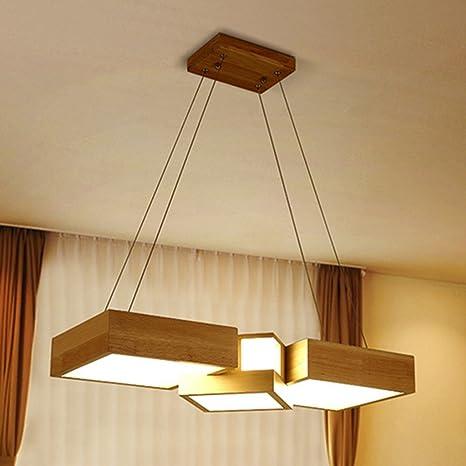 Lampade a sospensione Lampadari LED per ristorante Lampadario a sospensione  in legno Lampade a sospensione a