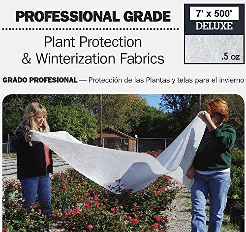 DeWitt Deluxe .5 oz 7' x 500' Frost Freeze Protection Cloth Germination Blanket Deluxe7 by DeWitt