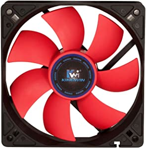 Kingwin 120mm CF-012LB Silent Fan, For Computer Cases, CPU Coolers, Long Life Bearing, Quiet Efficient Cooling, and Provide Excellent Ventilation for PC Cases-[Black]
